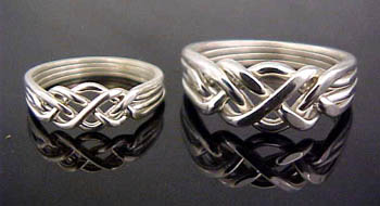 Puzzle Rings Hand Crafted In Sterling Silver